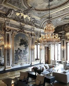 ▼・ᴥ・▼ amazing Tagged with architecture chandelier decor decorating home luxurious World's Most Beautiful, Beautiful Hotels, Living Room Kitchen, Living Room Decor, Hotel Ceiling, Hotel Interiors, Classical Architecture, Wallpaper S, Decoration