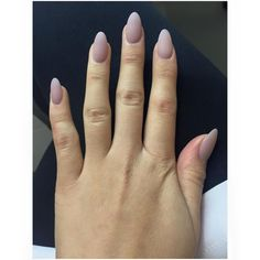 matte nude with almond round nails