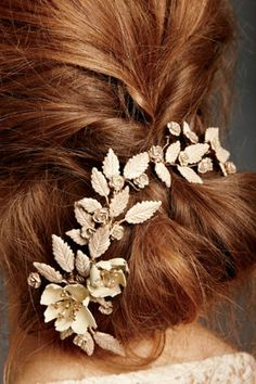 gold floral accessory