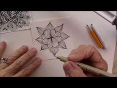 Cross Ur Heart Tangle Pattern Lesson #206 - YouTube