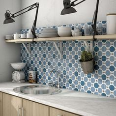 Merola Tile Caprice Colours Sapphire Encaustic in. Porcelain Floor and Wall Tile sq. / - The Home Depot Encaustic Tile, Splashback, Wall Patterns, Floor Patterns, Kitchen Backsplash, Backsplash Design, Moroccan Tile Backsplash, Kitchen Lamps, Porcelain Tile