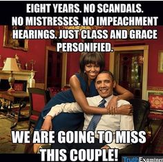 44th President of The United States Barack Obama & First Lady of The United States Michelle Obama.