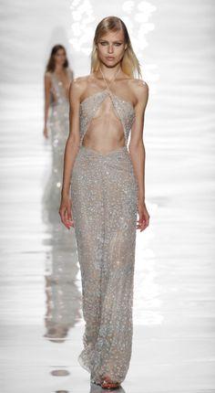 Elegant Dresses, Nice Dresses, Prom Dresses, Formal Dresses, Couture Fashion, Runway Fashion, High Fashion, Fashion Trends, Gray Dress