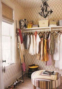 Home Decor: Walk in Closet Inspiration *LOVE the ladder for scarves Room Closet, Master Closet, Closet Space, Huge Closet, Tiny Closet, Closet Office, Walk In Closet Design, Closet Designs, Walk In Wardrobe