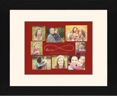 Love Infinity Framed Print, Black, Contemporary, Cream, Cream, Single piece, 11 x 14 inches, Red