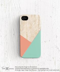 Geometric iPhone 5c case Wood print iPhone 5s case by TonCase, $21.99