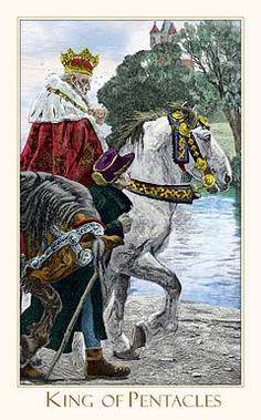 Victorian Romantic Tarot,The King of Pentacles