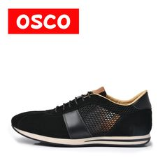 OSCO ALL SEASON New Men Shoes Fashion Men Casual Breathable Shoes Cow suede leather shoes #RU0009