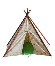 Another great find on #zulily! Light Green Cotton & Canvas Tepee Tent #zulilyfinds