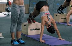 Plyo Box Push Ups. Plyo Box Exercises to Rev Your Fitness. Weight Training Workouts, Gym Workouts, At Home Workouts, Calisthenics Body, Plyometrics, Fitness Tips, Fitness Models, Fitness Motivation, Bodyweight Fitness