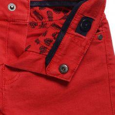 Mayoral - Boys Red Denim Shorts | CHILDRENSALON