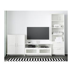 BRIMNES TV storage combination - white - IKEA