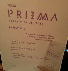 2014-ben egyedüliként a SAKKOM Interaktív pályázata kapott a zsűritől Prizma Kreatív PR Díjat a Piaci bevezetés és újrabevezetés kategóriában, így gyakorlatilag megismételtük a tavalyi sikerünket. Egy évvel ezelőtt a Szallas.hu, most pedig a Randstad Hungary számára készített pr kampány bizonyult kiemelkedőnek a szakmai megmérettetésen. - See more at: http://sakkom.hu/dijazott-dijbevezetes#sthash.kVFAt8y3.dpuf
