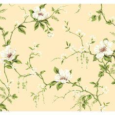 ME0128 Limoges Garden White Green Floral Wallpaper #York