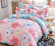 2016 New Design 100% Cotton Colorful Spring Floral Bedding Set Queen Size Bedding Set Printed Bedsheet Pillowcase Duvet Cover