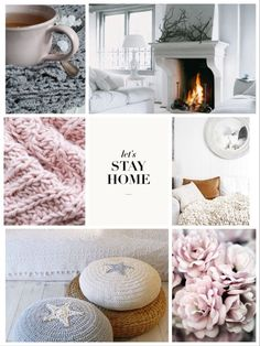 Let's stay home collage