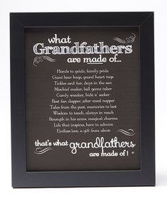 Grandparent Gift Company What Grandfathers Are Made of Frame | zulily