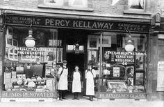 Victorian shop frontage showing Percy Kellaway's picture framing shop in Horfield, Bristol. Candid Photography, Street Photography, Gloucester Road, Bristol England, Victorian Pictures, High Street Shops, City Of Bristol, Old Street, Shop Fronts
