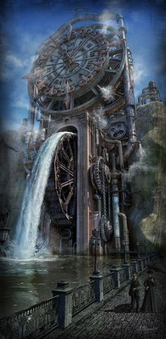 Clockwork waterfall