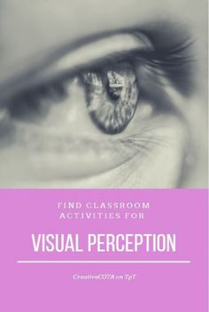 Visit my store to check out my visual perception activities.  Fun and engaging materials to help students improve their perception. Improving a students visual perception can improve reading spelling handwriting math and comprehension skills. Visual perceptual skills involve the ability to organize and interpret the information that is seen and give it meaning. #spellingandhandwriting #spelling #and #handwriting Visual Perception Activities, Spelling And Handwriting, Fitness Gifts, Camping Gifts, Practical Gifts, Classroom Activities, Comprehension, How To Look Pretty, Different Colors