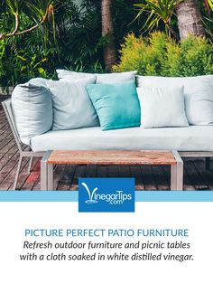 Using Vinegar to Clean Patio Furniture.