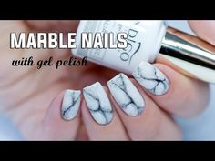 REALISTIC MARBLE NAILS - Easy Step by Step with Gel Polish - YouTube