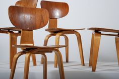 """Cees Braakman chairs - Pastoe (Netherlands).  """"For me, the challenge lies in finding ways to fuse technical perfection with aesthetic form."""" ~ Cees Braakman."""