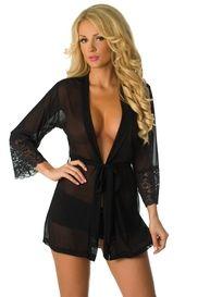 Black Something Sweet Robe