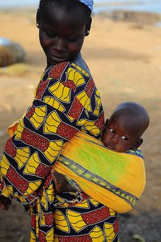 Africa | Mother and son.  Mali
