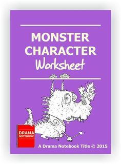 Custom worksheet for students who are working with monster characters. Drama Activities, Drama Games, Drama Teacher, Drama Class, Monster Characters, Dramatic Play, Worksheets For Kids, Glee, Lesson Plans