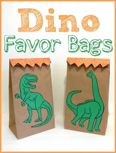 Click here to get tips for making the perfect dinosaur themed favour bags!