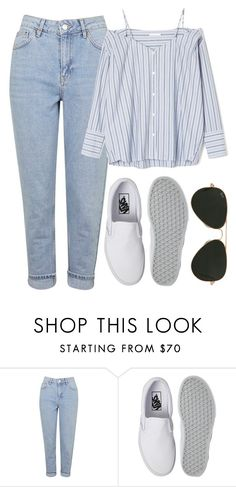 """Untitled #806"" by r0sesandtea ❤ liked on Polyvore featuring Topshop, Vans and Ray-Ban"