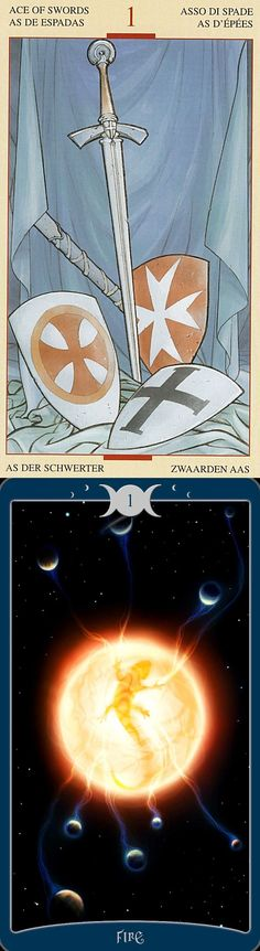 Ace of Swords: potential for immense power and success and brutality (reverse). Holy Grail Tarot deck and Book Of Shadows Tarot deck: tarottable cloth, free tarot reading on line and how many cards in a tarot deck. New tarot meanings and magic the gathering. #magic #androidapplication #justice #tarotart #lovers