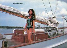 """Brooke Shields in """"Wet Gold,"""" 1984. Photo by Geoffrey Croft."""