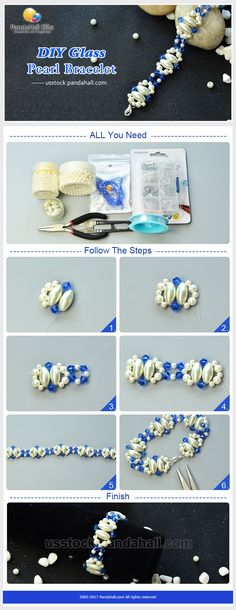 Glass pearl bracelet DIY with Pandahall Elite beads