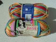 "Novita Puro Batik 886 - cute acrylic, dyed in mixed ""crayon"" colours."