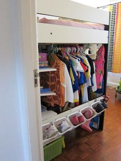 Hack your own version of a loft bed for your children! http://www.ikeahackers.net/2011/12/loft-bed-upgrade.html