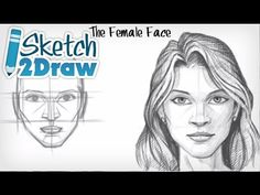 How to Draw a Female Face. Read full article: http://webneel.com/video/how-draw-female-face | more http://webneel.com/video/drawings | more videos http://webneel.com/video/animation | Follow us www.pinterest.com/webneel