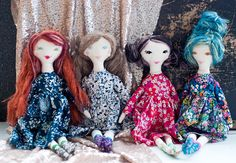 novamelina - My first patch of dolls i handcrafted with love :)  #clothdoll #handmade #doll #heirloomdoll #ragdoll #madewithlove #sewing #libertyartfabrics #libertyprints