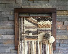 Woven wall hanging