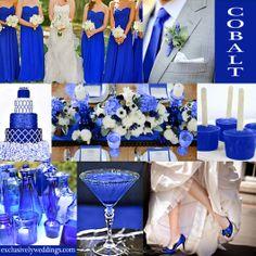 "Wedding color inspiration board: They say ""Cobalt,"" we say ""TARDIS!"" #doctorwho"