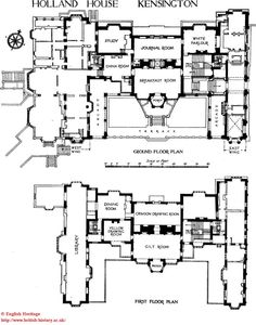 Biltmore estate mansion floor plan lower 3 floors we for Holland house design