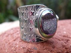 HANDCRAFTED 925 SILVER RING FREE SIZE DRUZY SILVERANDSOUL JEWELLERY