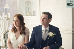 The bride & groom enjoying their wedding ceremony. Weddings at Conyngham Arms Hotel, Slane, by Couple Photography.