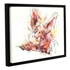 Latitude Run Hamming It Up Framed Painting Print Size: