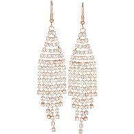 #heirloomfindsjewelry Rose Gold Crystal Duster Earrings