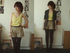 I love the shorts with the tights <3
