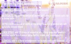 Dried #lavender and #essentialoils are so useful and the perfect addition to your natural life! #rdalchemy #naturalremedies #natural
