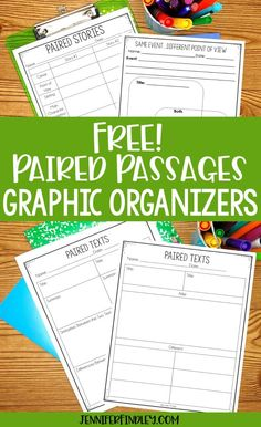 Paired passages are a huge part of reading instruction for and graders. Grab free paired passages graphic organizers on this post. 7th Grade Ela, Third Grade Reading, Fourth Grade, Reading Strategies, Reading Skills, Teaching Reading, Learning, Comparing Texts, Free Teaching Resources