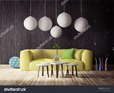 3d Render. Modern Interior Room With A Beautyful Furniture. Stock Photo 265609928 : Shutterstock